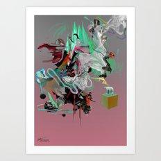 Pluie Art Print