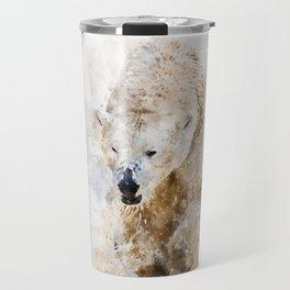 Abstract watercolor polar bear Travel Mug