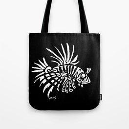 Lionfish - marine fish - pterois - tatoo Tote Bag