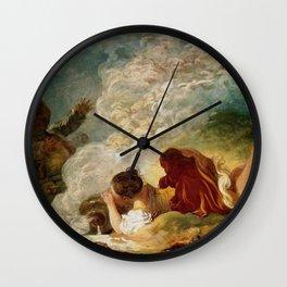 """Jean-Honoré Fragonard """"La Laitière et le Pot au Lait"""" Wall Clock"""