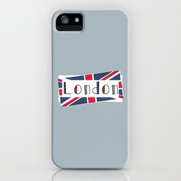 Home, Love, Illustration, Heart, london  iPhone Case