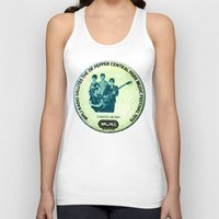 talking heads Tank Tops featuring Central Park talking heads 1979 by Del Gaizo