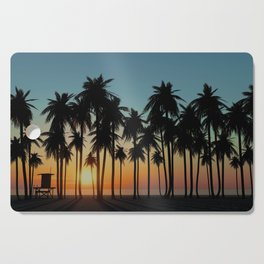 Newport Sunset in 3D Cutting Board
