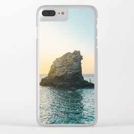 Rock in the sea 2 Clear iPhone Case