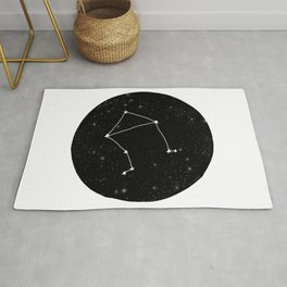 Libra minimal constellation star sign zodiac art print Rug