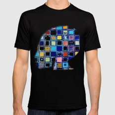 living in a box (global)4.Version MEDIUM Mens Fitted Tee Black