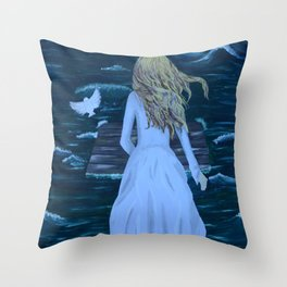 Untidaled Throw Pillow
