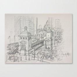 Chicago - Michigan Avenue Bridge Canvas Print