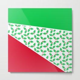 Christmas Color Blocks 2 Metal Print