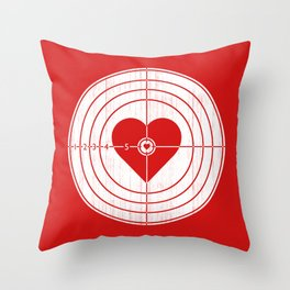 Hit Me in the Heart Throw Pillow