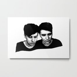 AmazingPhil &Danisnotonfire Metal Print
