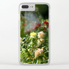 Through the haze of roses Clear iPhone Case