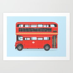 On The Road (Routemaster) Art Print