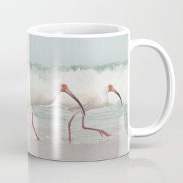 Three Little Ibis All in a Row Coffee Mug