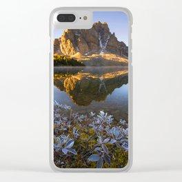 SUNBURST PEAK Clear iPhone Case