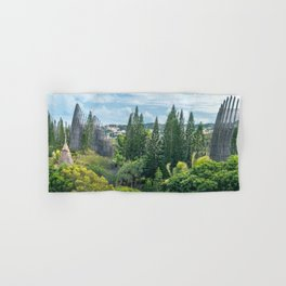 Tjibaou Cultural Centre immersed in tropical vegetation Hand & Bath Towel