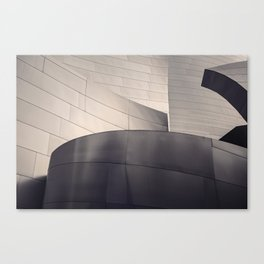 Architectural abstract, Black and White, LA Philharmonic, Architect: Frank Gehry Canvas Print