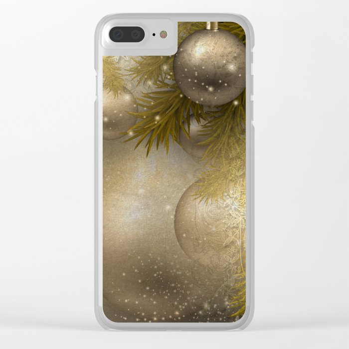 Gold ornaments Clear iPhone Case