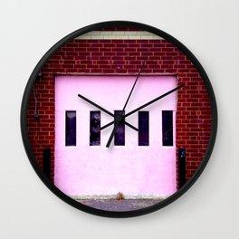Pink Door #1 Wall Clock