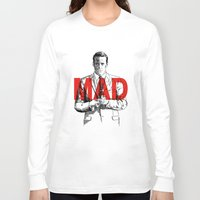 mad men Long Sleeve T-shirts featuring Don Draper Mad Men by Mark McKenny