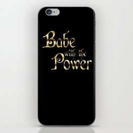 Labyrinth Babe With The Power (black bg) iPhone Skin