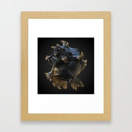A word in your shell-like Framed Art Print