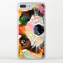 Red Panda Smiles Clear iPhone Case