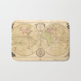 World Map by Carington Bowles (1791) Bath Mat