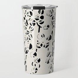 Green Pearls Succulent Black and White Print Travel Mug