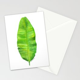 Banana Leaf Watercolor Painting Stationery Cards