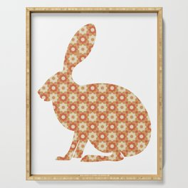 BUNNY SILHOUETTE WITH PATTERN Serving Tray