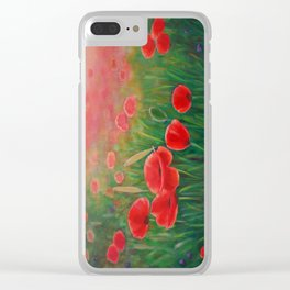 Poppy Meadow Clear iPhone Case