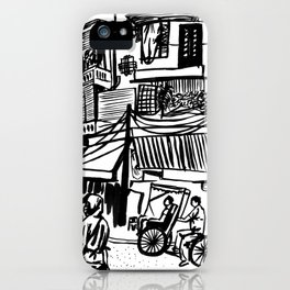 A Street Scene in Hanoi iPhone Case