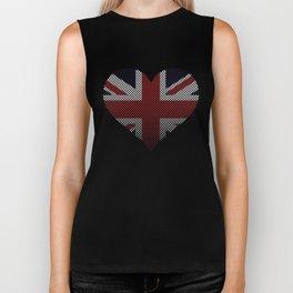 Union Jack Love England Faded Flag Biker Tank