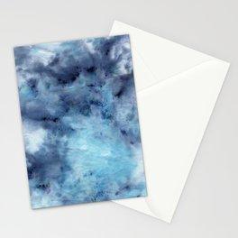 ice-dye blue textile splash  Stationery Cards
