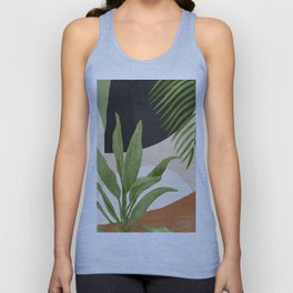 Abstract Art Tropical Leaf 11 Unisex Tank Top