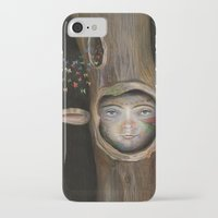 tree of life iPhone & iPod Cases featuring Tree Life by Fizzyjinks