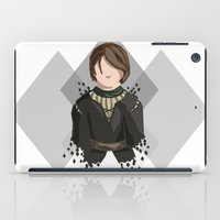 house stark iPad Cases featuring Arya Stark by itsamoose