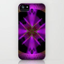 Spinning Wheel Hubcap in Purple iPhone Case