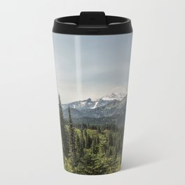 Mt Rainier from Naches Peak Loop Metal Travel Mug