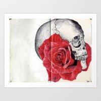 SkullRose Art Print