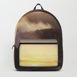Sunset over the clouds Backpack