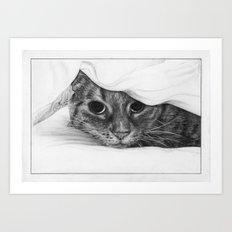 Tabitha the Tabby Cat Art Print