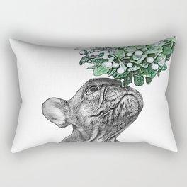 puppy and mistletoe Rectangular Pillow