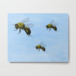 Flight of the Bumblebees Metal Print