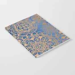 Blue and Gold Mandala Pattern Notebook