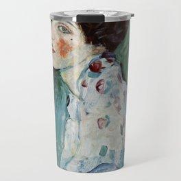 """Gustav Klimt """"Portrait of a lady"""" Travel Mug"""