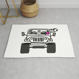 Jeep Wave White - Girl Rug