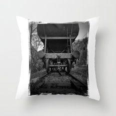Old Railway Wagon Throw Pillow