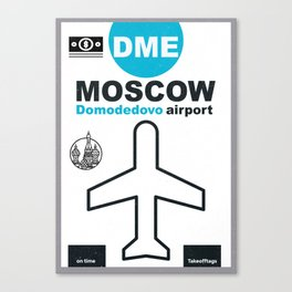 DME  Domodedovo airport code Canvas Print